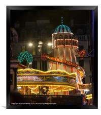 Helter Skelter at the Fun Fair in Glasgow, Framed Print