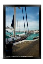 Yacht moored on the Grand Canal, Framed Print