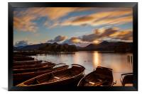 Moored Boats Derwent Water, Lake District., Framed Print