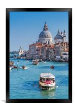 Church of the Salute, the Grand Canal, Venice., Framed Print