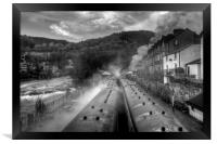 """Llangollen Steam"", Framed Print"