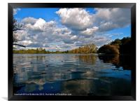 Stockers Lake reflection (2), Framed Print