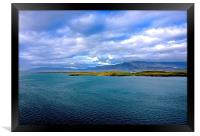 View from Revkiavik Harbour Iceland , Framed Print