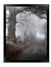 frosty morning in the lane, Framed Print
