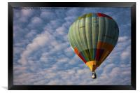 Photograph of a hot air balloon taken at the Putra, Framed Print