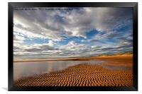 Ripples in the sand, Framed Print