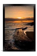 New day on Cullercoats Bay, Framed Print