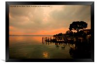 Sirmione Sunset, Framed Print