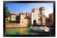 Scaliger Castle, Sirmione with an artistic filter, Framed Print