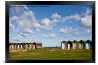 The Beach Huts at Blyth in Northumberland, Framed Print
