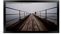 The Old Wooden Pier in Perspective, Framed Print