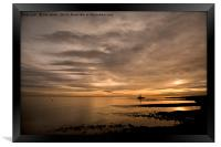 Golden Dawn at St Mary's Island, Framed Print