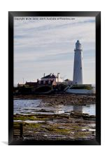 Reflecting on St Mary's Island, Framed Print
