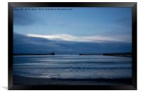The start of a new blue day, Framed Print