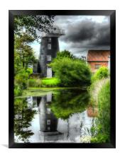 Norton Marsh Mill, Framed Print