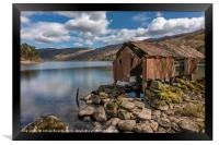 Rusty Boathouse, Framed Print