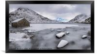Icy Shore In Winter, Framed Print