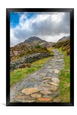 Trail To Tryfan Mountain Snowdonia, Framed Print