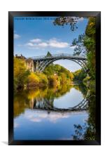IronBridge Shropshire , Framed Print