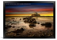 St Cwyfan Sunset, Framed Print