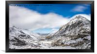 Nant Ffrancon Pass and Pen yr Ole Wen Snowdonia, Framed Print