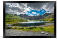 Glaslyn Lake and Snowdon Mountain, Framed Print