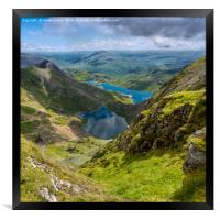 Footpaths from Snowdon Mountain, Framed Print