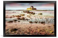 St Cwyfan Church In The Sea, Framed Print