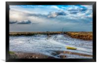 Morston quay in Norfolk, Framed Print