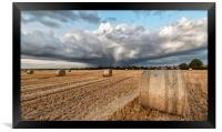 A cloudburst over Titchwell and Brancaster, Framed Print
