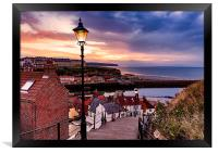 Whitby By Lamplight, Framed Print