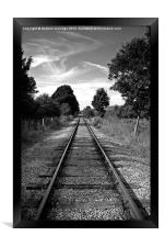 The train line, Framed Print
