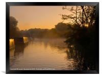 Misty morning on the Grand Union Canal, Framed Print