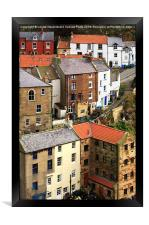 The fishing village of Staithes, North Yorkshire, Framed Print
