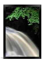 waterfall view, Framed Print