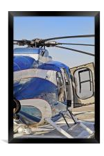 Helicopter abstract open right hand door, Framed Print