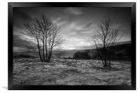Hope Valley Black and White, Framed Print