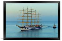 ROYAL CLIPPER                     , Framed Print