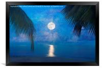 Tropical Moonglow, Framed Print