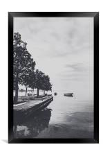 The peace on the lake, Framed Print