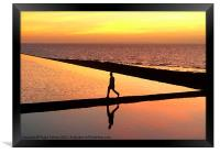 Another arty sunset reflection!, Framed Print