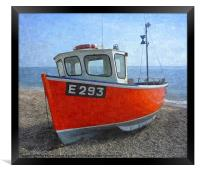 Beached boat at Branscombe 2, Framed Print