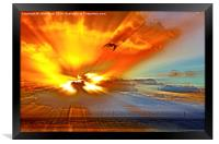 Explosion in the cloud, Framed Print