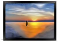 An Iron Man at Sunset, Framed Print