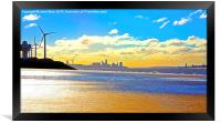 Liverpool Water Front from Crosby Beach..., Framed Print