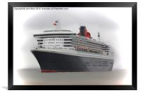 Queen Mary 2, Framed Print