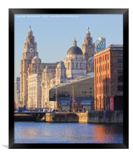 World famous Three Graces, Framed Print