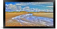 Low Tide (Digital Painting), Framed Print
