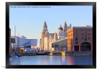 Royal Albert Dock And the 3 Graces, Framed Print