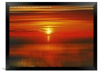 Irish Sea Sunset, Framed Print